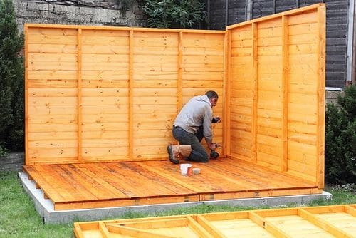 build a shed from a kit