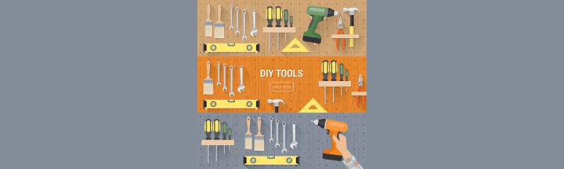 Different types of pegboard hooks