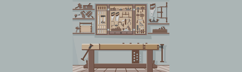 Workbench for shed